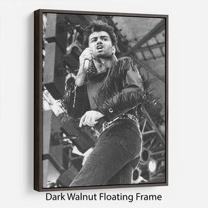 George Michael in Whams last concert Floating Frame Canvas - Canvas Art Rocks - 5
