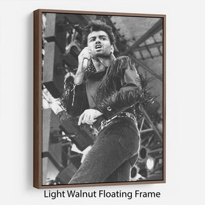 George Michael in Whams last concert Floating Frame Canvas - Canvas Art Rocks 7