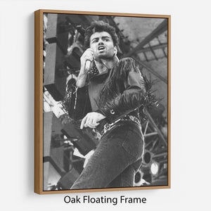 George Michael in Whams last concert Floating Frame Canvas - Canvas Art Rocks - 9