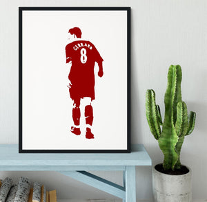 Gerrard Pop Art Framed Print - Canvas Art Rocks - 1