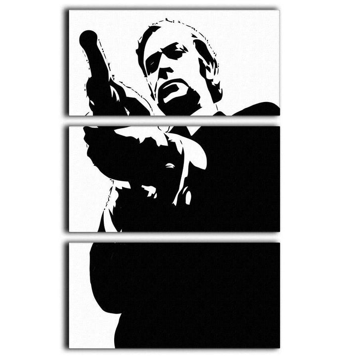 Get Carter Pop Art 3 Split Panel Canvas Print