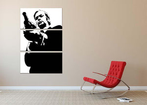 Get Carter Pop Art 3 Split Panel Canvas Print - Canvas Art Rocks - 2