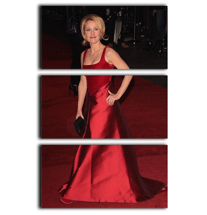 Gillian Anderson at the premiere of Les Miserables 3 Split Panel Canvas Print