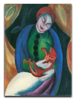 Girl with a Cat II by Franz Marc Canvas Print or Poster  - Canvas Art Rocks - 1