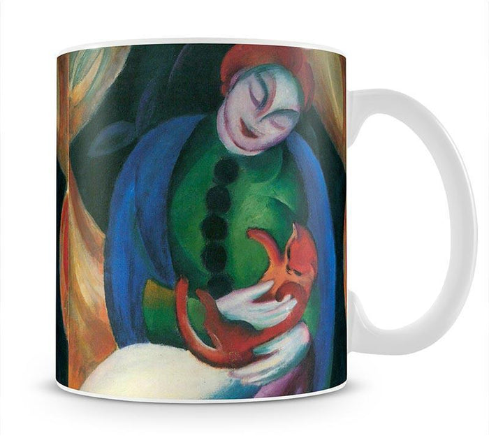 Girl with a Cat II by Franz Marc Mug