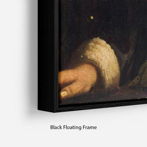 Girl with a flute by Vermeer Floating Frame Canvas - Canvas Art Rocks - 2