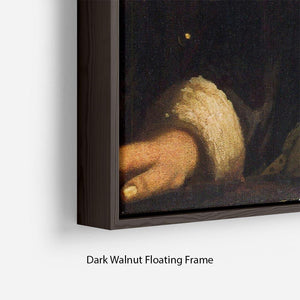 Girl with a flute by Vermeer Floating Frame Canvas - Canvas Art Rocks - 6
