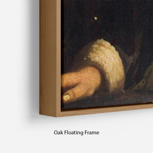 Girl with a flute by Vermeer Floating Frame Canvas - Canvas Art Rocks - 10