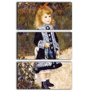 Girl with the Watering Can by Renoir 3 Split Panel Canvas Print - Canvas Art Rocks - 1