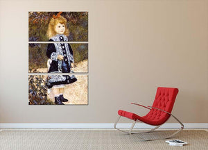 Girl with the Watering Can by Renoir 3 Split Panel Canvas Print - Canvas Art Rocks - 2