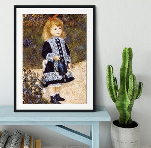 Girl with the Watering Can by Renoir Framed Print - Canvas Art Rocks - 1