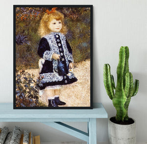 Girl with the Watering Can by Renoir Framed Print - Canvas Art Rocks - 2