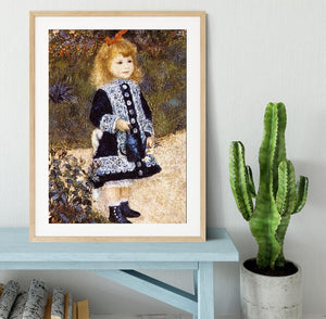 Girl with the Watering Can by Renoir Framed Print - Canvas Art Rocks - 3