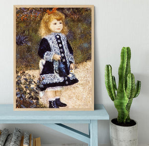 Girl with the Watering Can by Renoir Framed Print - Canvas Art Rocks - 4