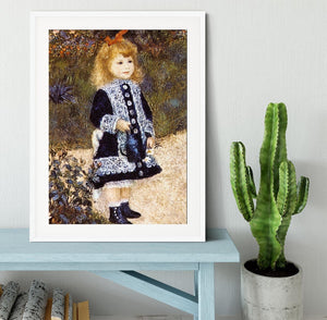 Girl with the Watering Can by Renoir Framed Print - Canvas Art Rocks - 5