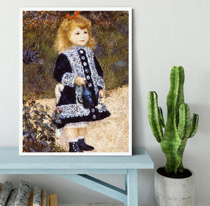 Girl with the Watering Can by Renoir Framed Print - Canvas Art Rocks -6