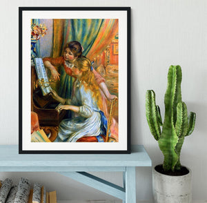 Girls at the Piano by Renoir Framed Print - Canvas Art Rocks - 1