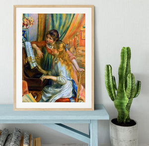 Girls at the Piano by Renoir Framed Print - Canvas Art Rocks - 3