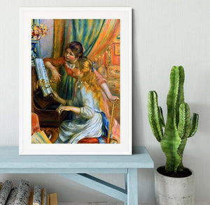 Girls at the Piano by Renoir Framed Print - Canvas Art Rocks - 5