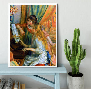 Girls at the Piano by Renoir Framed Print - Canvas Art Rocks -6