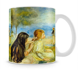 Girls by the Seaside by Renoir Mug - Canvas Art Rocks - 1
