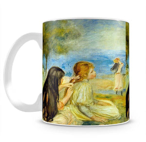 Girls by the Seaside by Renoir Mug - Canvas Art Rocks - 2