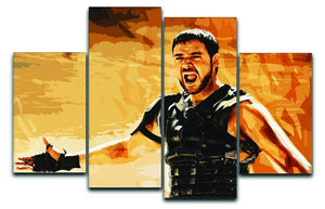 Gladiator 4 Split Panel Canvas  - Canvas Art Rocks - 1