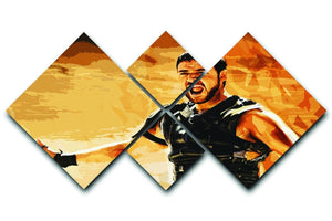 Gladiator 4 Square Multi Panel Canvas  - Canvas Art Rocks - 1