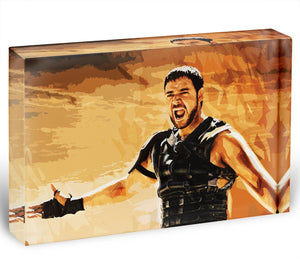 Gladiator Acrylic Block - Canvas Art Rocks - 1