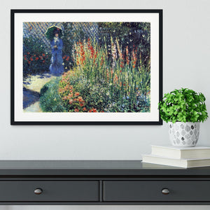 Gladiolas by Monet Framed Print - Canvas Art Rocks - 1