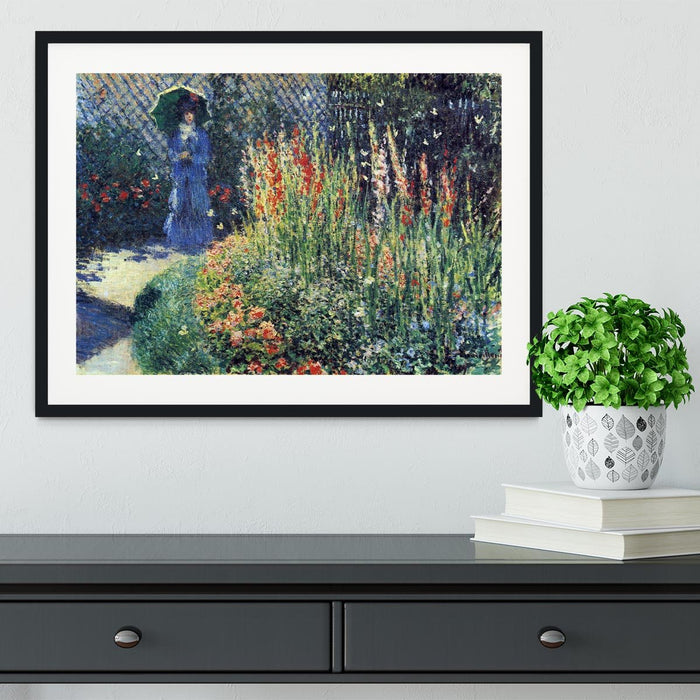 Gladiolas by Monet Framed Print