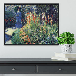 Gladiolas by Monet Framed Print - Canvas Art Rocks - 2