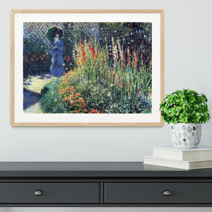 Gladiolas by Monet Framed Print - Canvas Art Rocks - 3