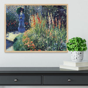 Gladiolas by Monet Framed Print - Canvas Art Rocks - 4