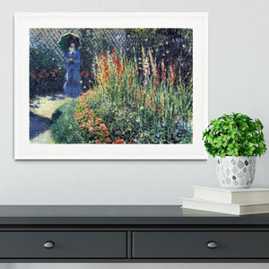 Gladiolas by Monet Framed Print - Canvas Art Rocks - 5
