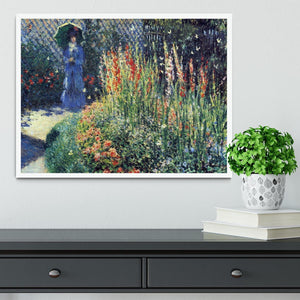 Gladiolas by Monet Framed Print - Canvas Art Rocks -6