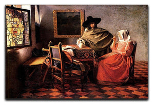 Glass of wine by Vermeer Canvas Print or Poster - Canvas Art Rocks - 1