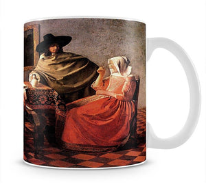 Glass of wine by Vermeer Mug - Canvas Art Rocks - 1