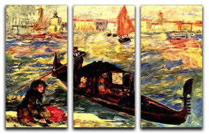 Gondola on the Canale Grande by Renoir 3 Split Panel Canvas Print - Canvas Art Rocks - 1