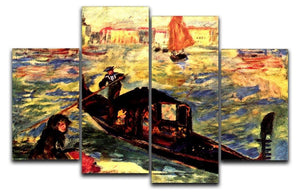Gondola on the Canale Grande by Renoir 4 Split Panel Canvas  - Canvas Art Rocks - 1
