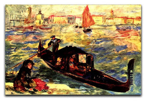 Gondola on the Canale Grande by Renoir Canvas Print or Poster  - Canvas Art Rocks - 1