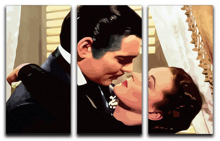 Gone With the Wind 3 Split Panel Canvas Print