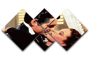 Gone With the Wind 4 Square Multi Panel Canvas  - Canvas Art Rocks - 1
