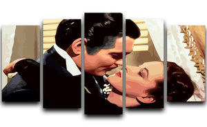 Gone With the Wind 5 Split Panel Canvas  - Canvas Art Rocks - 1