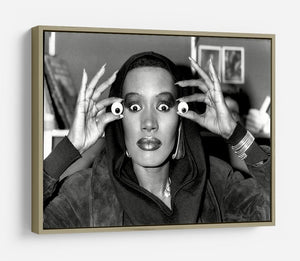 Grace Jones is all eyes HD Metal Print