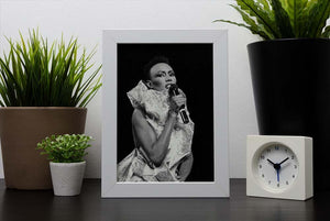 Grace Jones singing Framed Print - Canvas Art Rocks - 4