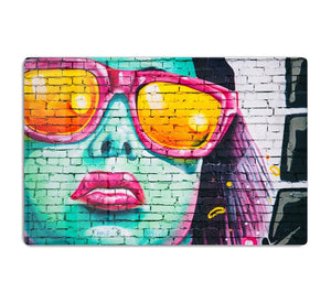 Graffiti Glasses HD Metal Print