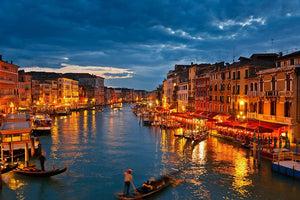 Grand Canal Venice at night Wall Mural Wallpaper - Canvas Art Rocks - 1