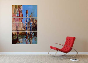 Grand Canal in Venice by Edouard Manet 3 Split Panel Canvas Print - Canvas Art Rocks - 2