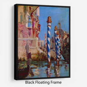 Grand Canal in Venice by Edouard Manet Floating Frame Canvas